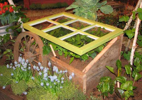 Cold Frame with Raised Lid