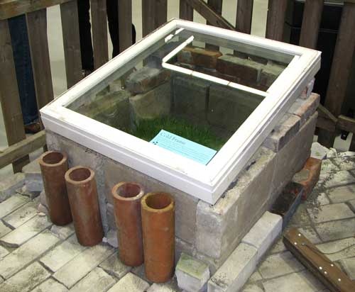 Concrete Block Cold Frame