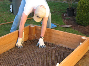 Constructing raised bed gardens from planks