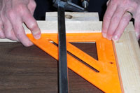 Using a carpenters square