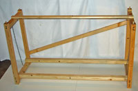 The assembled grow light stand frame