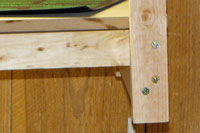 Close-up of the grow light stand leg